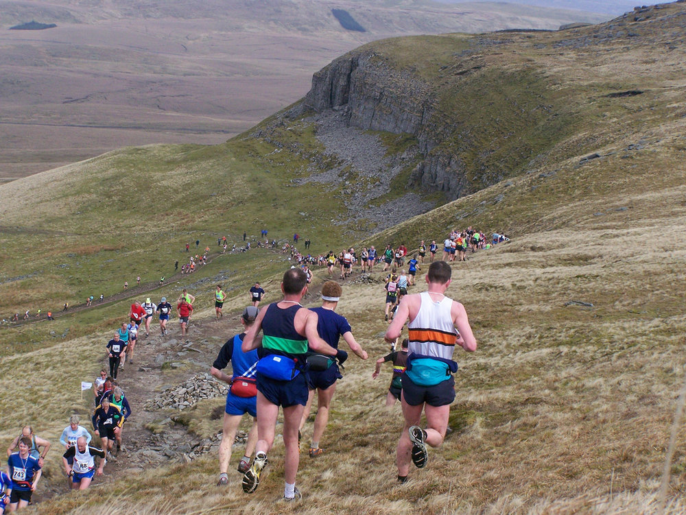 The Three Peaks Fell Race in Yorkshire, where runners try to navigate the best route between checkpoints (Pic credit: Paul Halford)