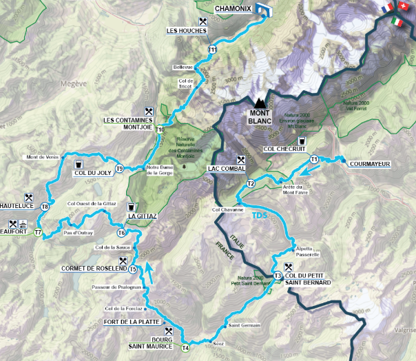 The 2019 race will still start in Courmayeur and finish in Chamonix but feature 9100m in elevation gain