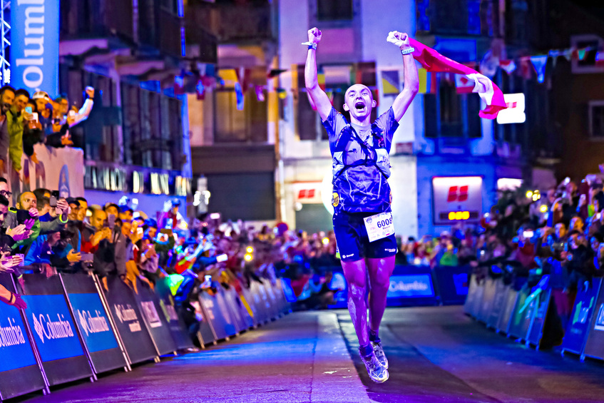 Poland's Laurent Salino winning this year's TDS, which was staged over 121km (Credit: Laurent Salino/UTMB)