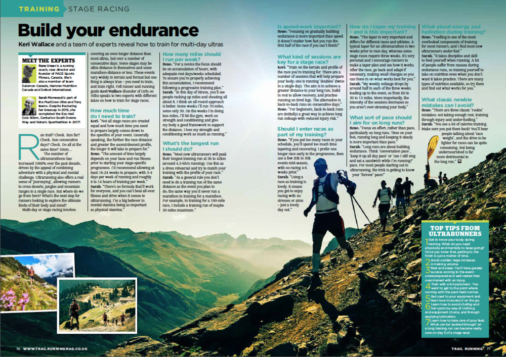 The above article first appeared in the October-November 2018 edition of Trail Running