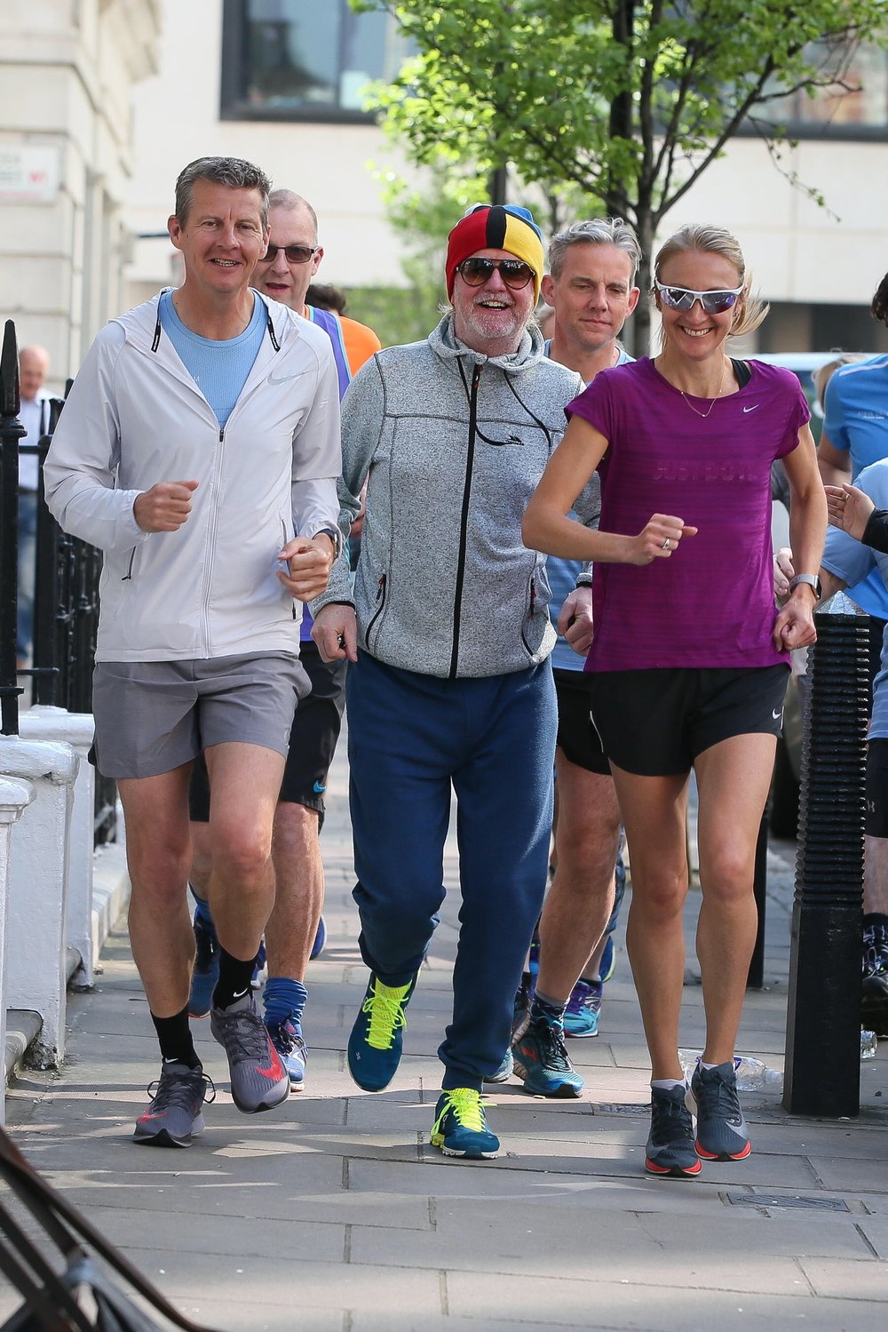 Steve Cram, Chris Evans and Paula Radcliffe launching the new RunFestRun event in Wiltshire in June