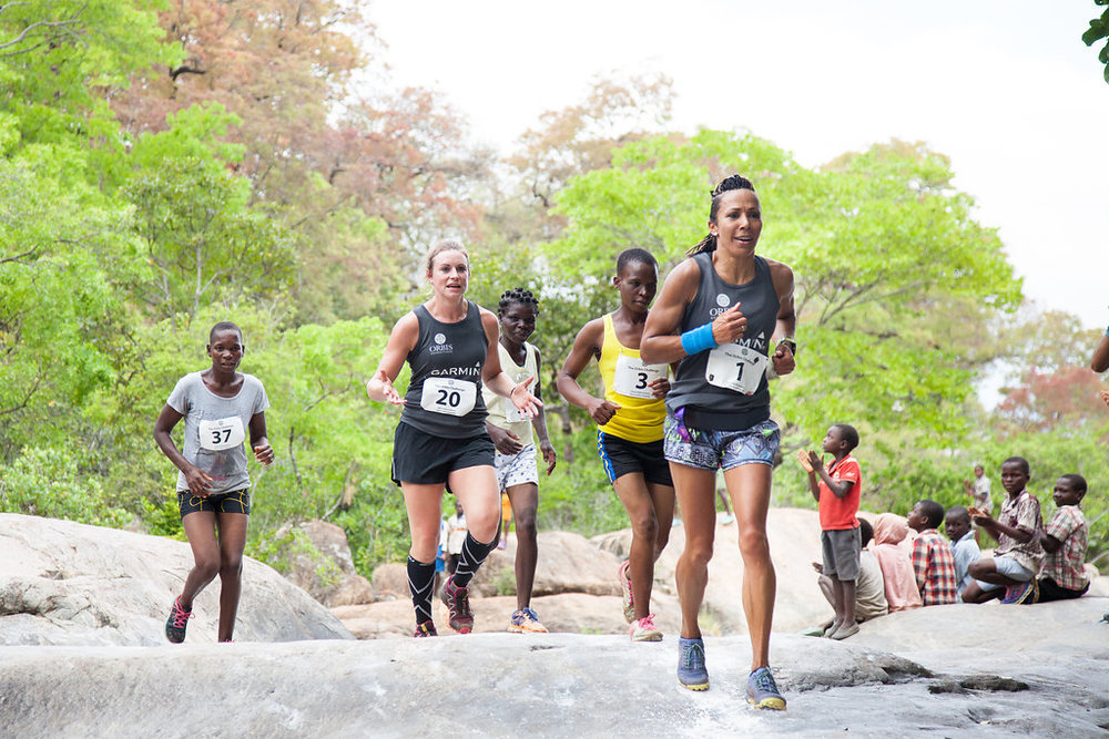 Kelly Holmes, here seen in Malawi last year, ,will take part again in October