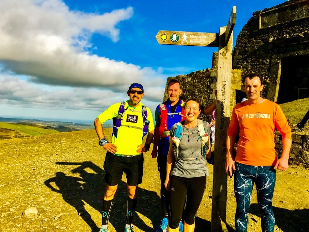 Laurent Gorce, Jason Harper, Nia Albiston & Gordon Hughes (l-r) will set off from south Wales up the border path at the end of this month