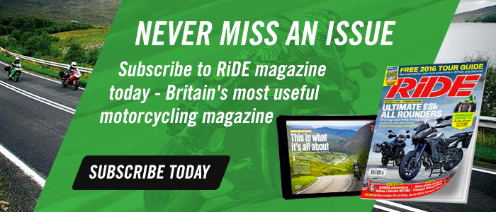 Subscribe to RiDE magazine