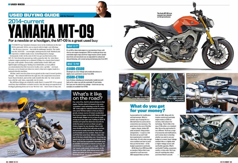 Used Buying Guide Yamaha MT-09