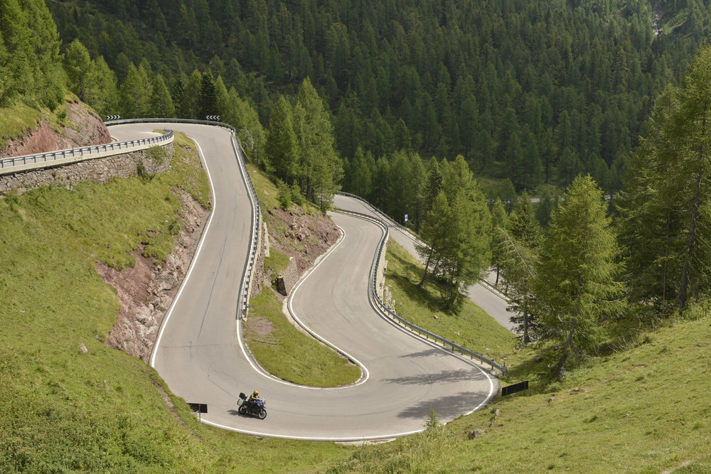 Passo Rolle: the Dolomites but without the crowds of Swiss GS riders
