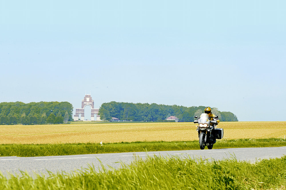 The Thiepval Monument dominates the horizon in this beautiful region