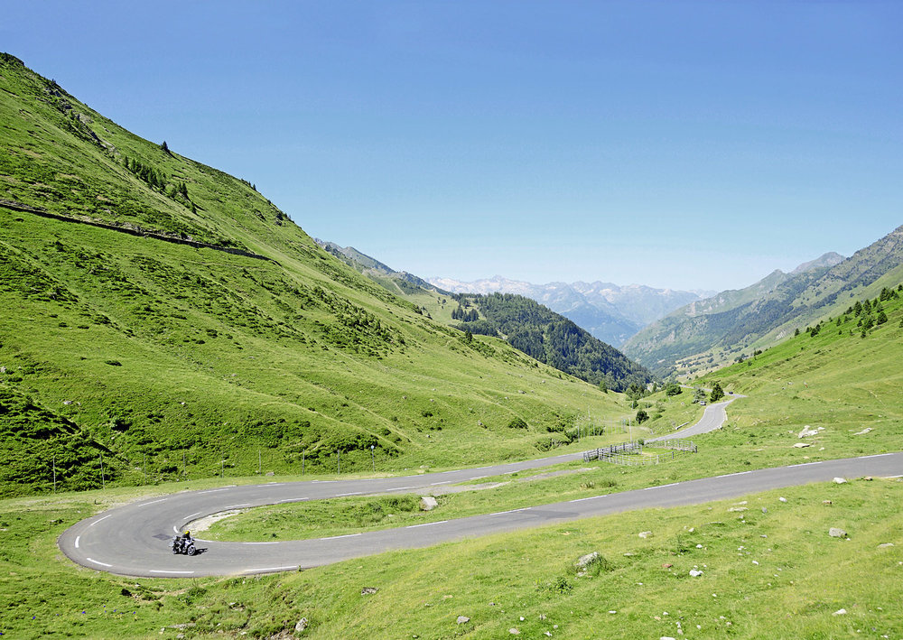 This is the Col du Tourmalet – one of the must-ride roads in the western Pyrenees