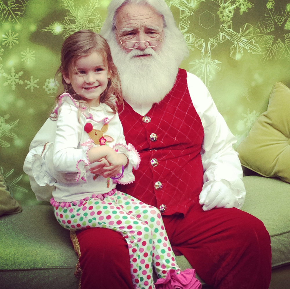 Santa is clearly alarmed. I think what he gave us for Christmas that year was a trip to the psychologist's office.