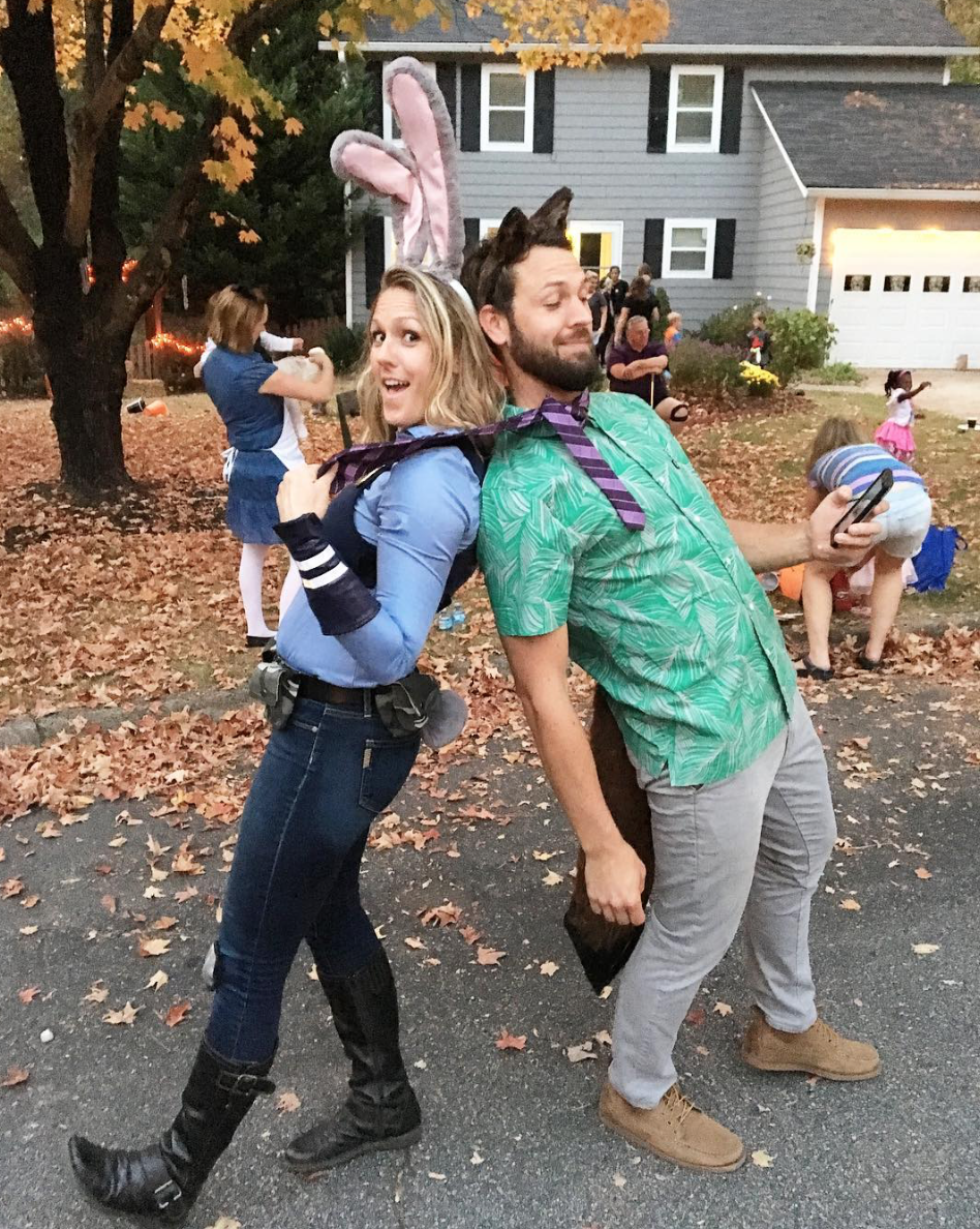 Are y'all as obsessed as I am? How cute are these two? I mean, dressing up as Zootopia for Halloween? #winning