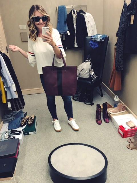 elodie top   |   good american jeans   |   treasure & bond sneaker  s |   sonix sunglasses   |   madewell bag