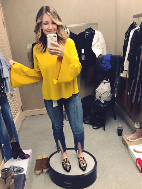 topshop blouse   |   frame denim   |   halogen slides