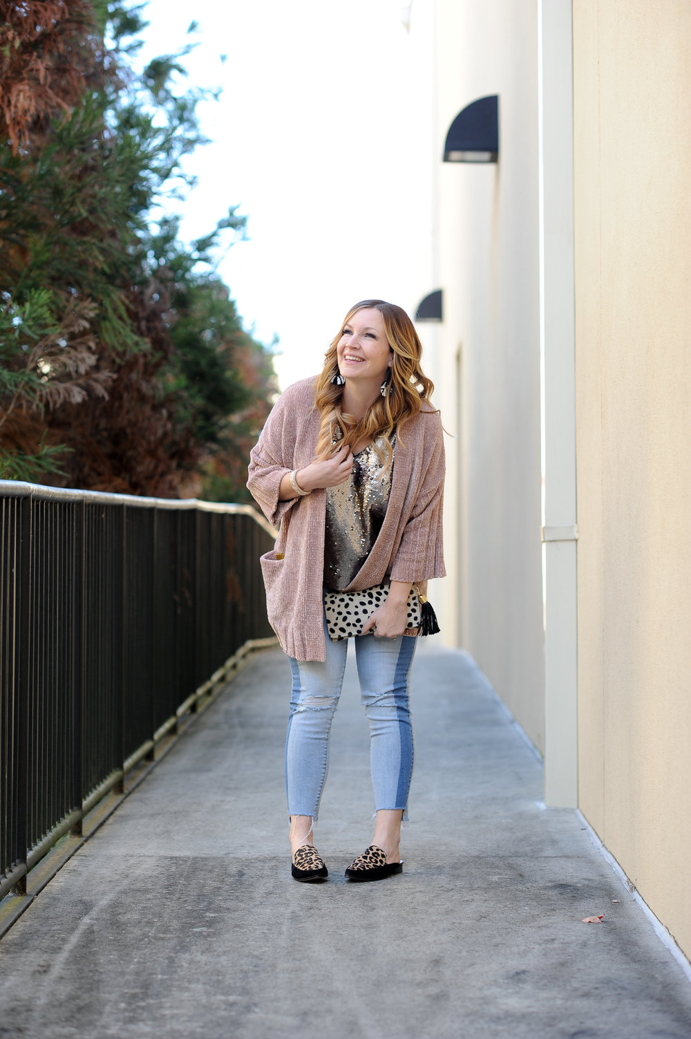 MAJOR SALE on this cardigan    (it's like wrapping yourself in angel wings) and    the sequined top   ! Plus some    SUPER similar jeans   , nearly half off!