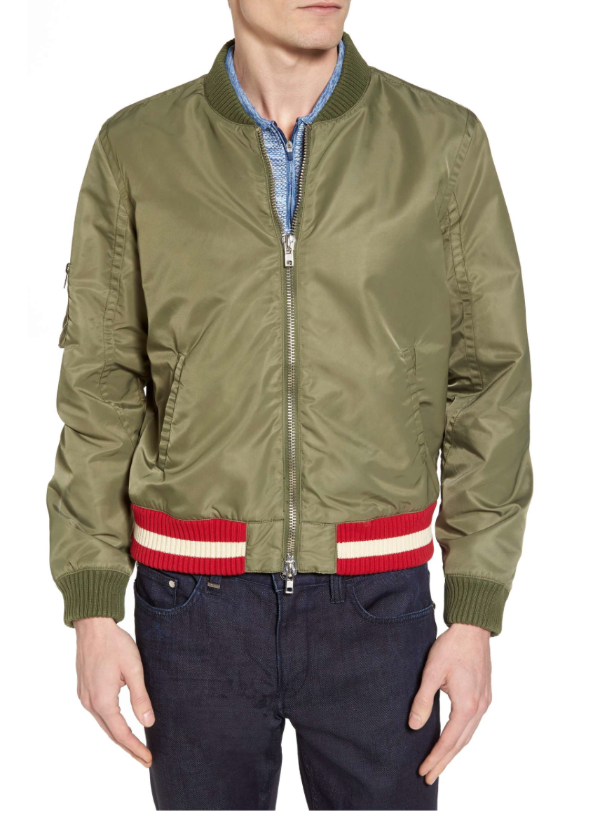 sporty bomber jacket