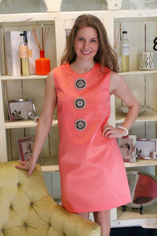 Mestiza Gladiola Dress in Coral