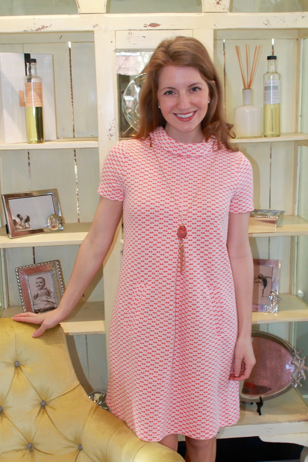 Tyler Boe Bamboo Dress in Peony