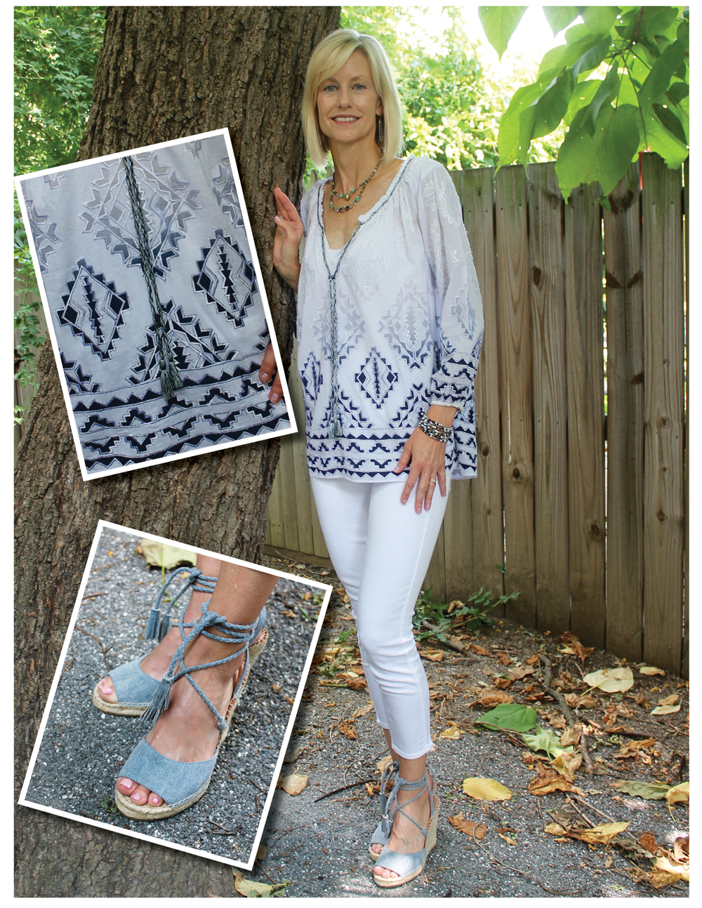 dd54eeb0187b Few outfits say summer as much as the combo of billowy peasant blouses and  lace-up sandals. The Calypso top flows freely and won t cling in sweltering  temps ...