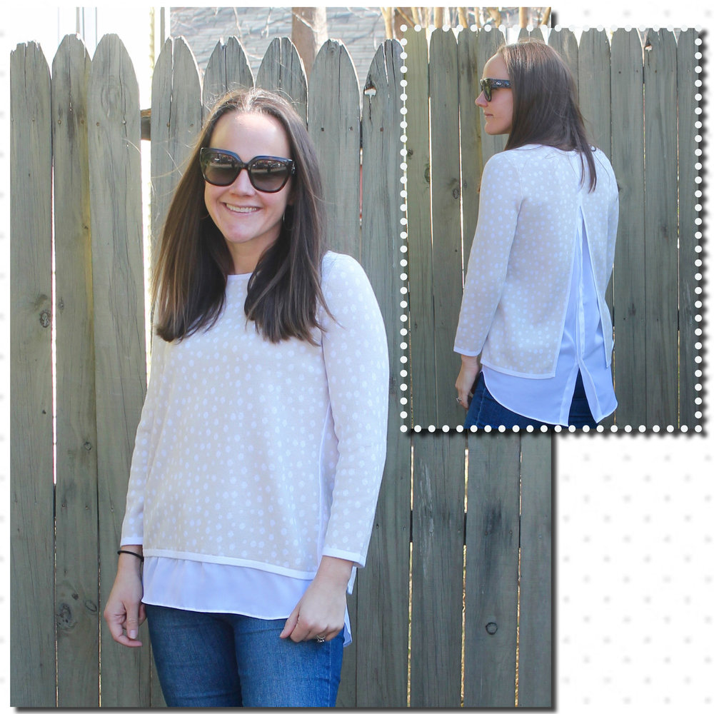 1fdc99e8f8b ... made modern in both these tops by turning the focus from the front to  the back. The blue top has sweet cutouts framed with bows while the beige  sweater ...