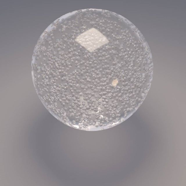 Sphere with bubbles #renderman21 #pxrsurface #glass #rendering #3D #cg #houdinifx #bubbles #artificial
