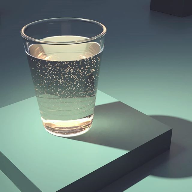 Glass of water. A shading exercise🥛  #renderman #katana #3d #rendering #houdini #pxrsurface #cgi
