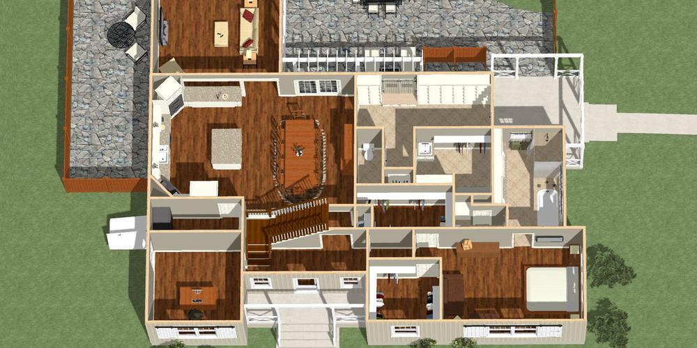 Floor Plan Overview (3D design model)