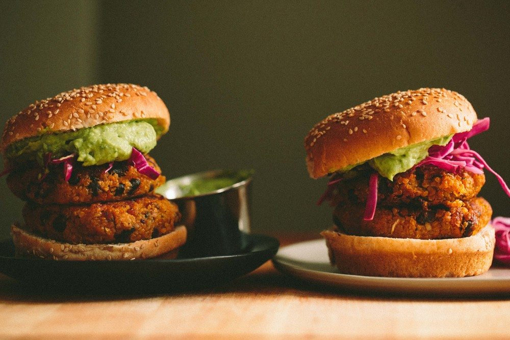Sweet Potato, Black Bean, and Quinoa Burger | A Thought For Food