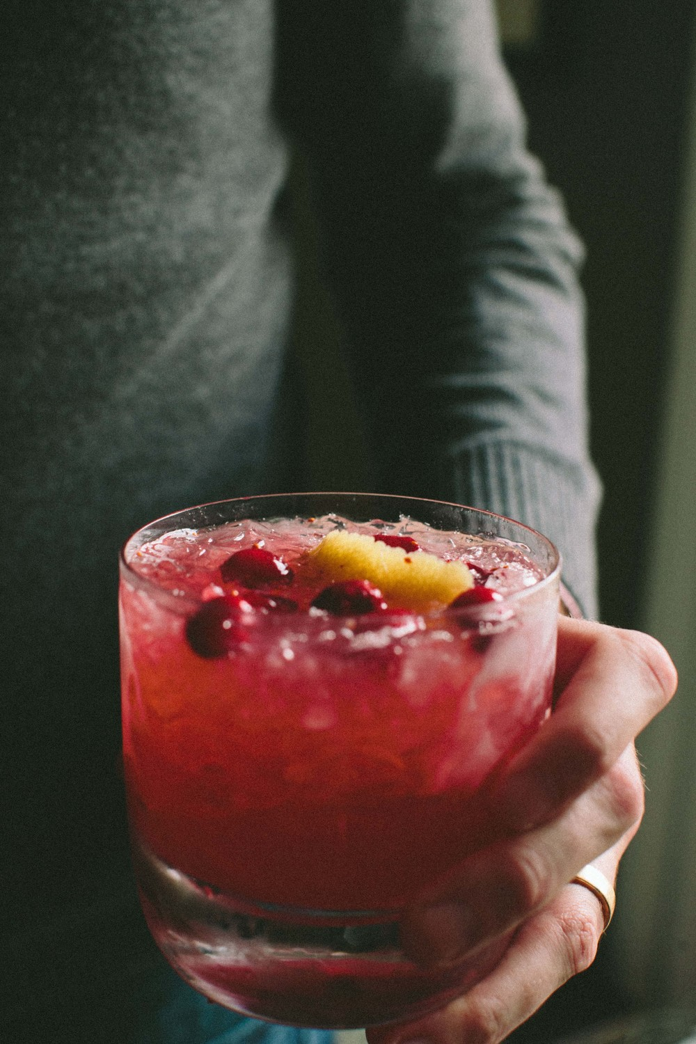 Cranberry Ginger Whiskey Smash | athoughtforfood.net @athoughtforfood