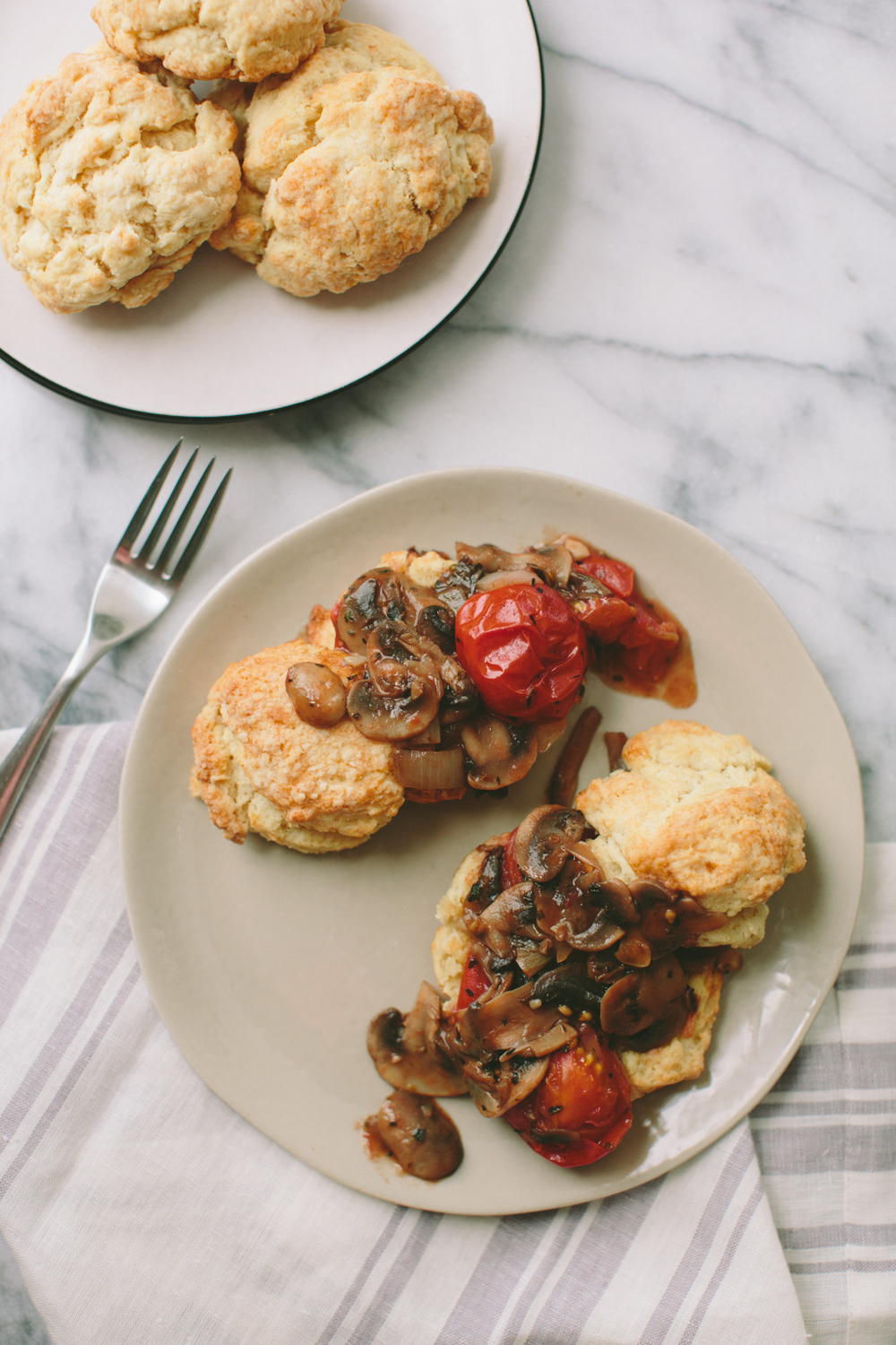 Buttermilk Biscuits with Mushroom Gravy | A Thought For Food