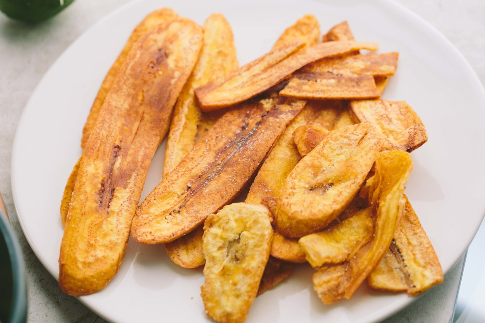Charred Corn and Mango Salsa + Plantain Chips // A Thought For Food