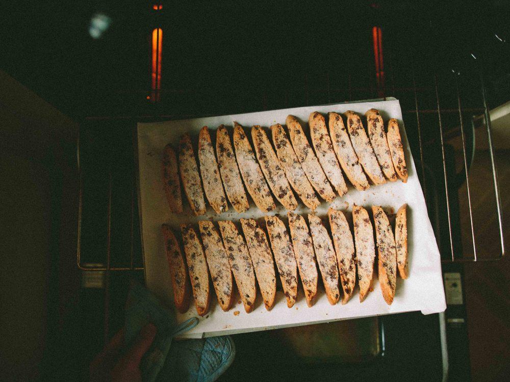 CHOCOLATE CHIP + ORANGE MANDEL BREAD