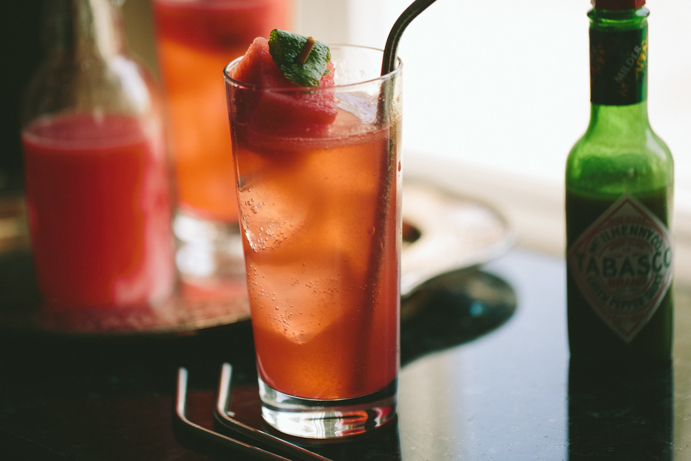 Watermelon Shrub Spritzer // A Thought For Food