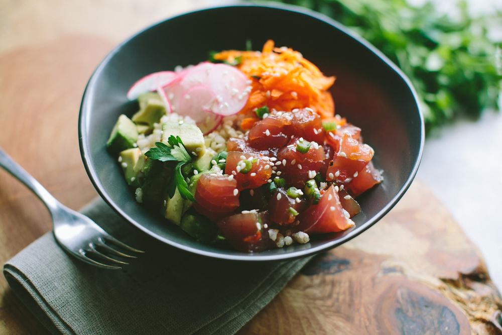 Ahi Tuna Poke Bowl — A Thought For Food