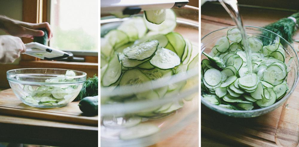 Cucumber Salad Triptich