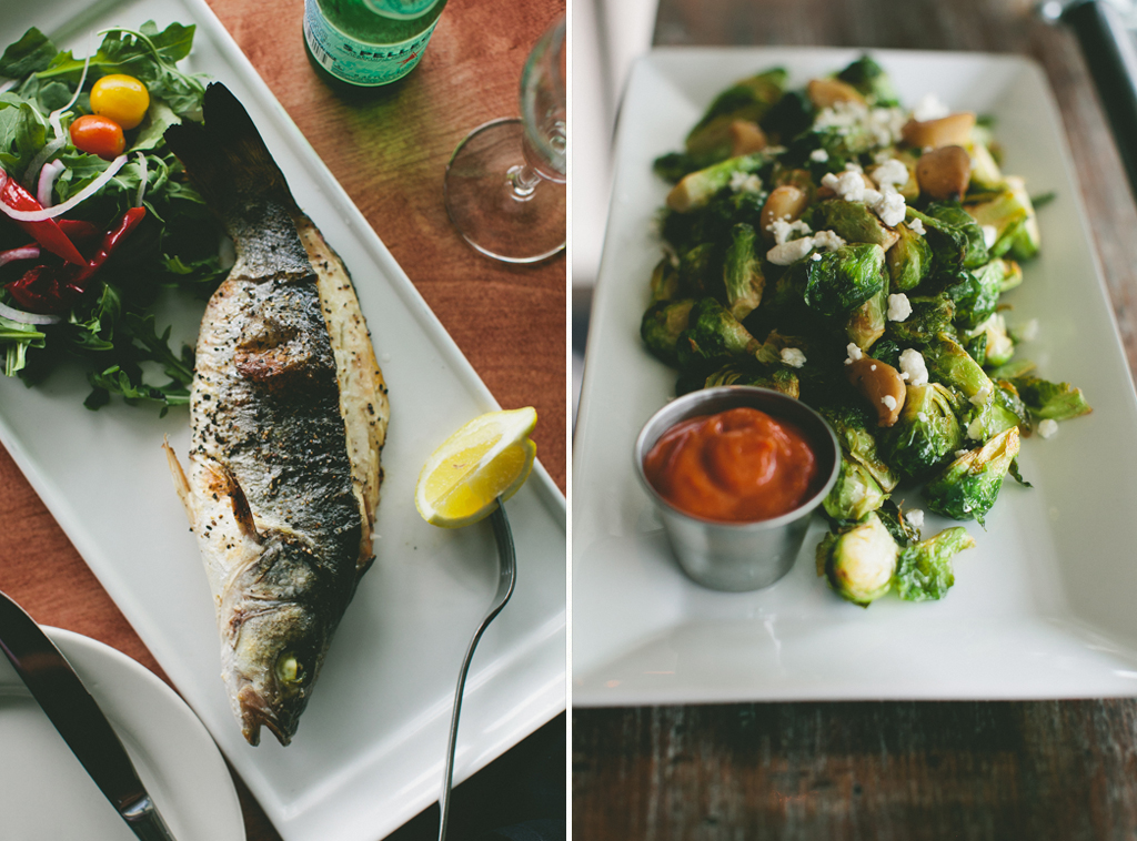 Whole Roasted Fish and Brussels Sprouts at Craft 260 (Fairfield, CT) - Photography by Brian Samuels - A Thought For Food