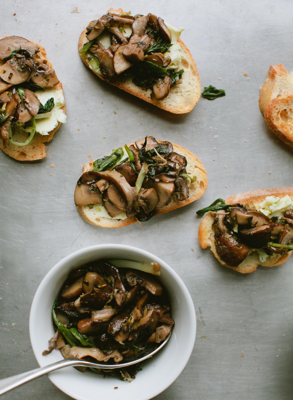 Ramp + Mushroom Toast