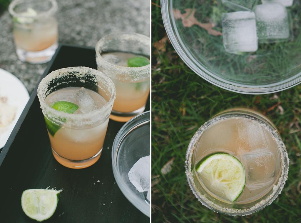 Citrus Margarita with Lemon, Lime and Ginger Rim