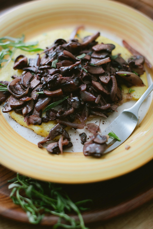 Polenta + Stewed Mushrooms