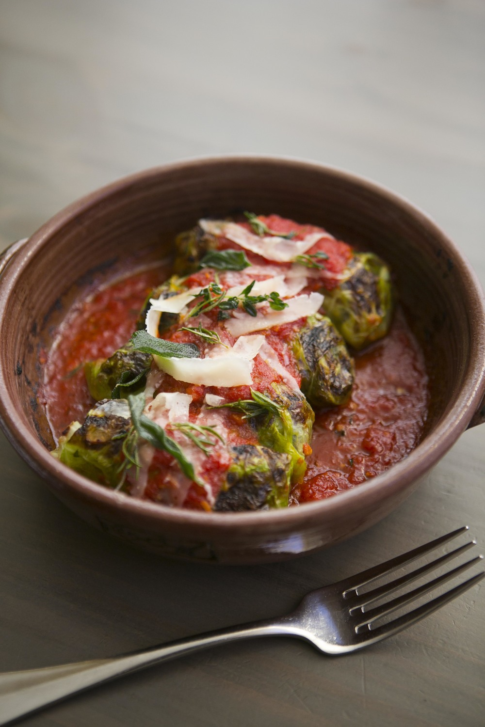 Vegetarian Stuffed Cabbage from Jody Adams of Rialto (Photograph by Brian Samuels)