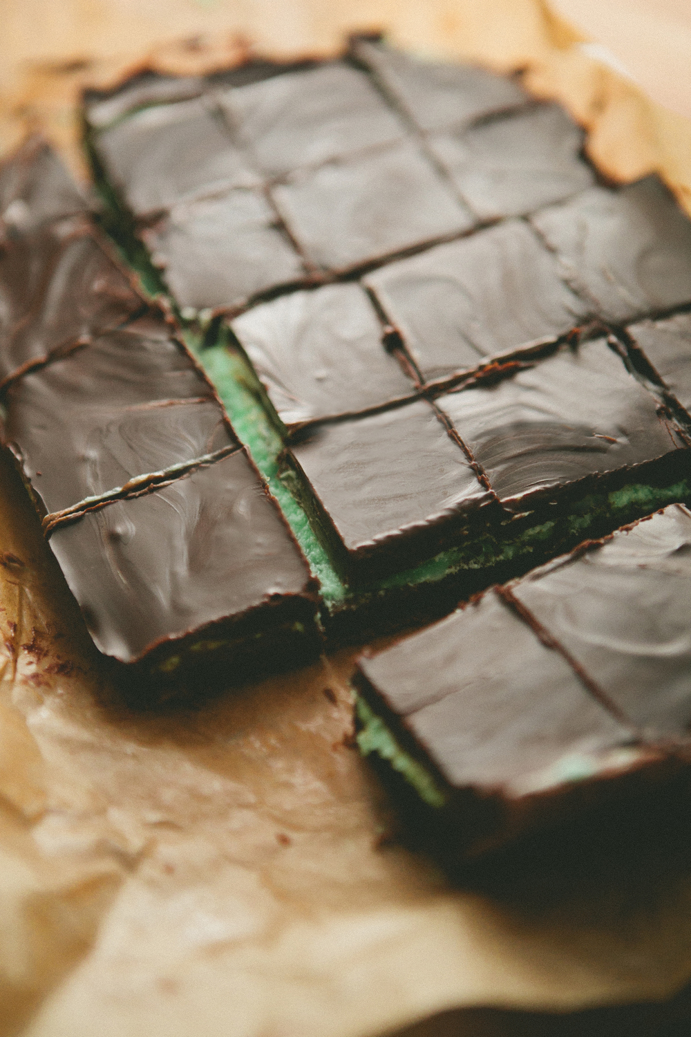Chocolate Mint Brownie Bites