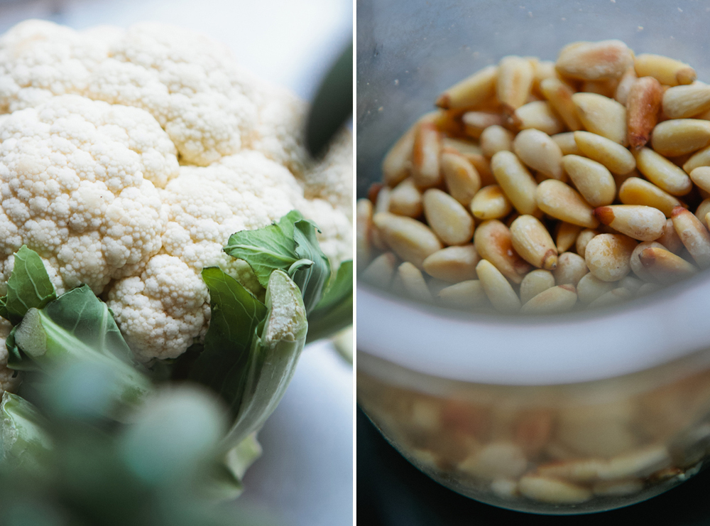 Roasted Cauliflower with Pine Nuts and Currants