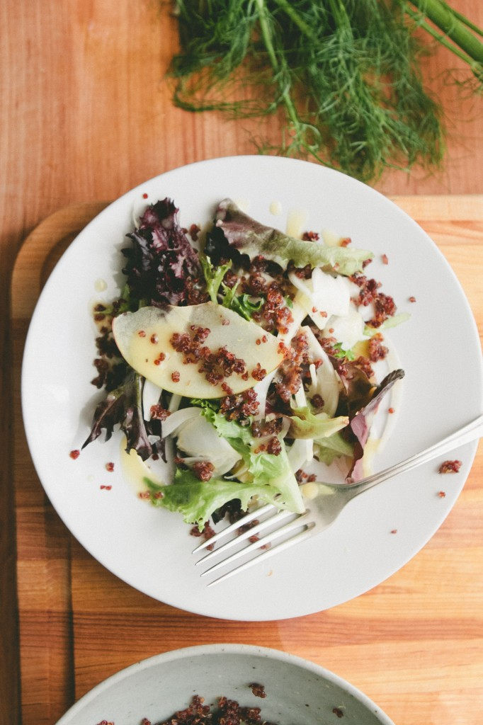 Shaved Fennel, Apple and Crispy Quinoa | A Thought For Food