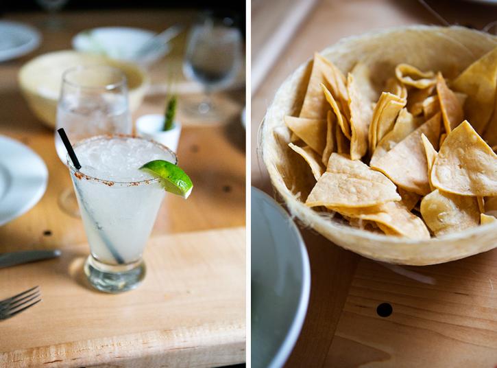 Mezcal Margarita and Chips from El Naranjo - Austin, TX