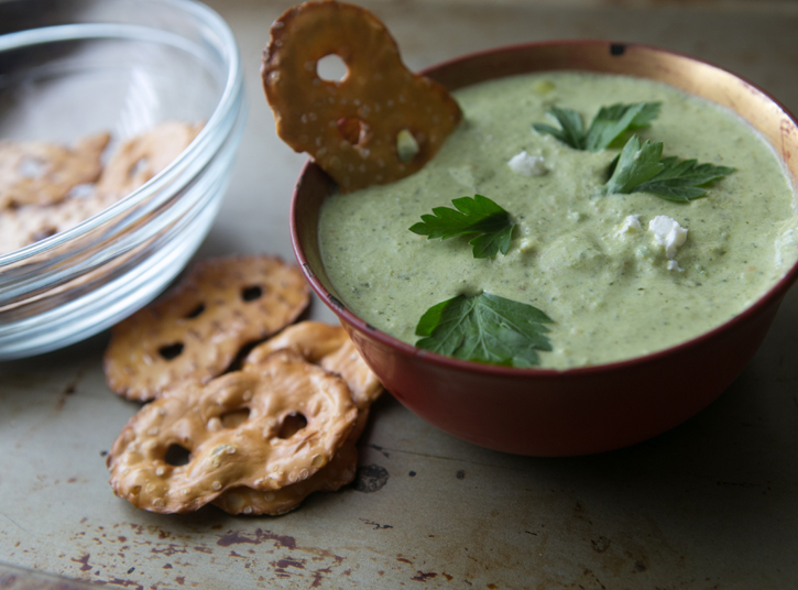 Creamy Tomatillo Dip | A Thought For Food