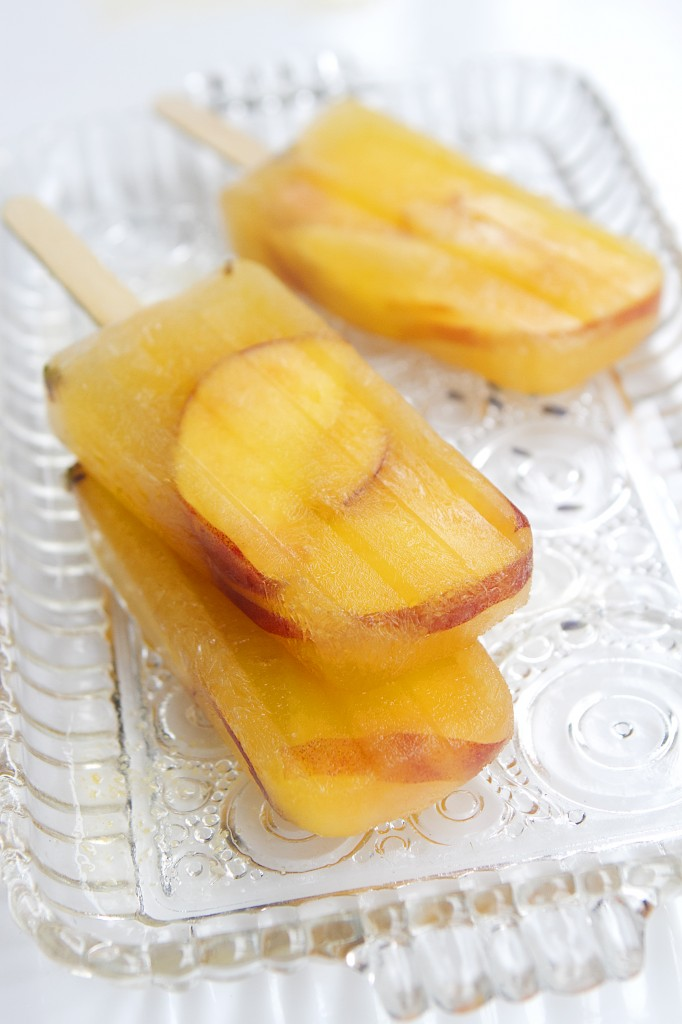 Peach and Lavender Sangria Popsicles