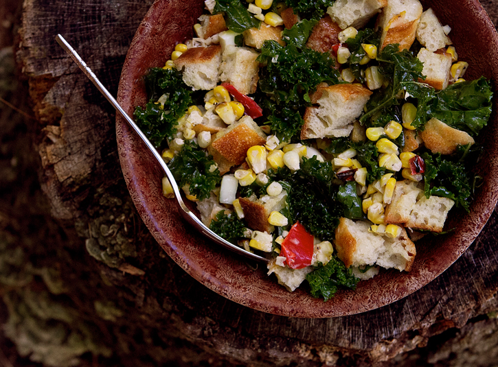 Kale and Corn Panzanella7