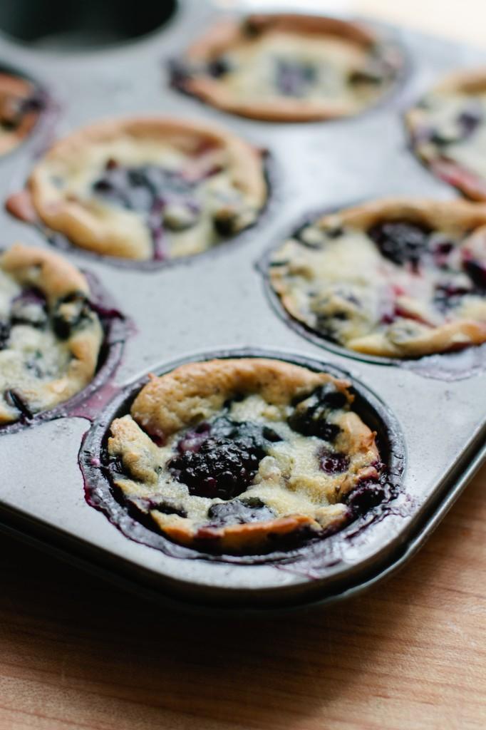 Honey, Ricotta and Berry Muffins