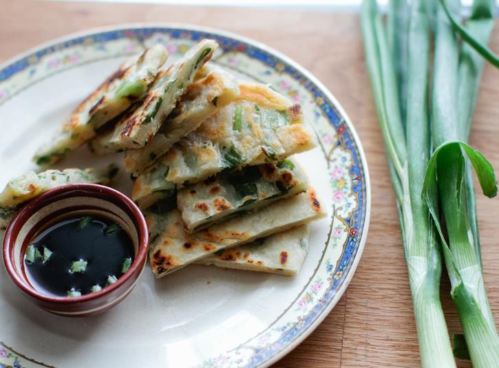 Spring Garlic Pancakes