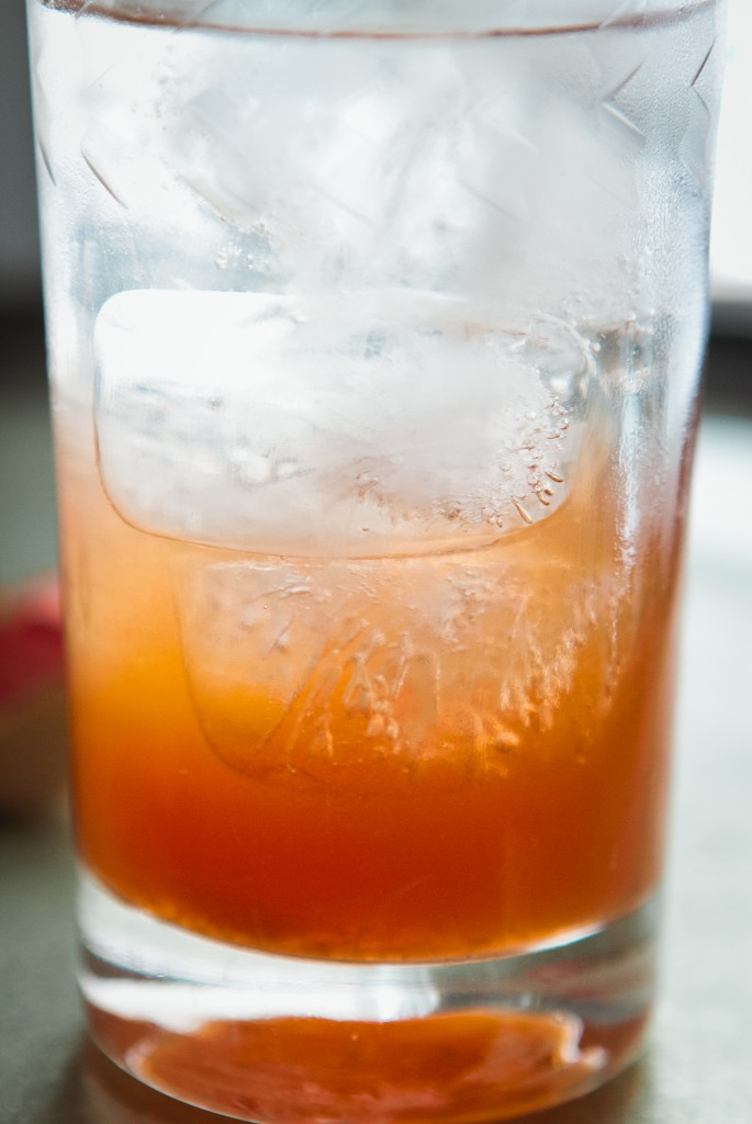 Strawberry Rhubarb Shrub Collins from A Thought For Food