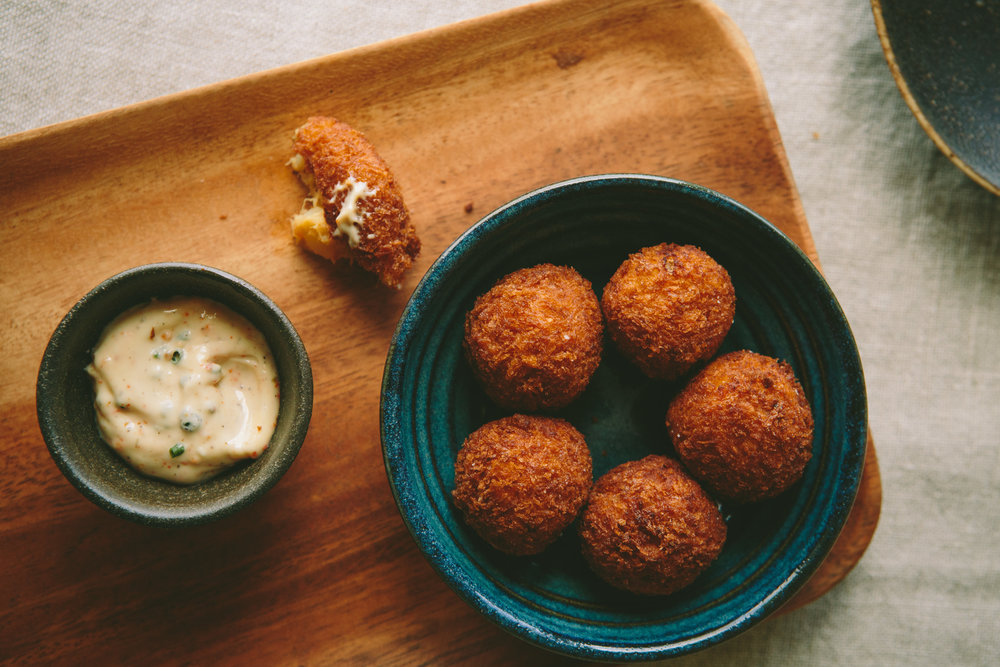 Croquetas de Curry Crab from PAGU in Cambridge, MA - Photo by Brian Samuels of A Thought For Food