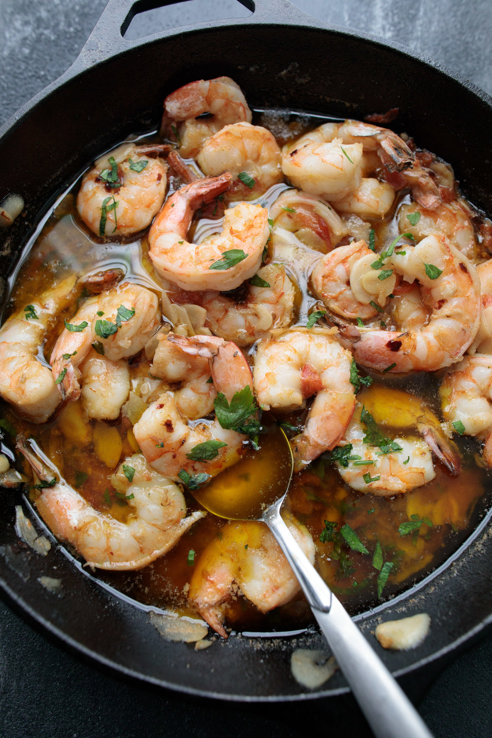 Gambas al Ajillo (Shrimp in Garlic Chili Oil) from A Thought For Food